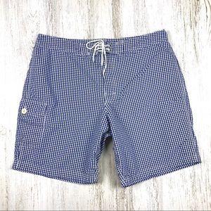 J.Crew Men's Board Shorts Swim Trunks Checkered 34